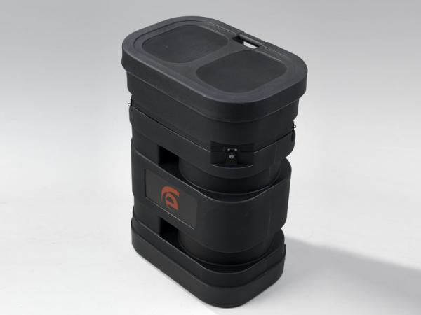 "Roto-molded Pop Up Case with Wheels (28"" W x 19"" D x 38"" H)"