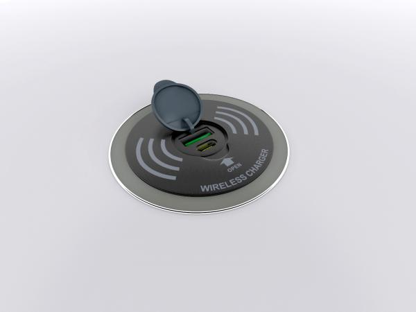 Wireless and Wired Charging Pad -- View 2 (Open)