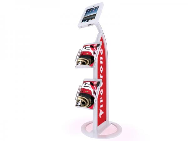 MOD-1357 iPad Kiosk with Literature Holders -- White