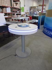 MOD-1453 Wireless Bistro Charging Table with RGD Programmable Perimeter Lights and Graphics