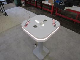 MOD-1463 Portable Charging Table with Wireless and Wired Charging Ports and RGB Perimeter Lighting