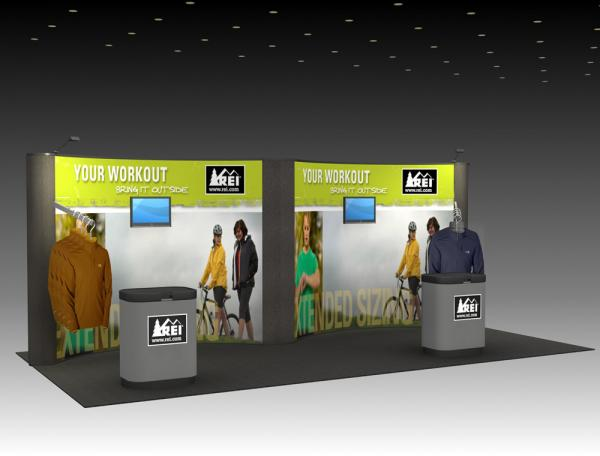 QD-212 Trade Show Pop-up Display